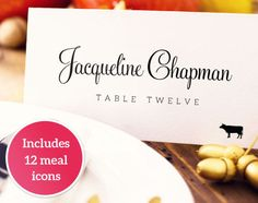 printable minimalist diy place card template simplicity elegant