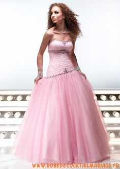 sexy short prom dress UN Cheap Dresses Online, Prom Dresses For Sale, Pink Dresses, Tulle Ball Gown, Ball Gowns, Formal Gowns, Strapless Dress Formal, Formal Hair, Rosa Style
