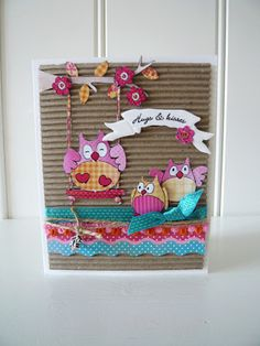 Made this card with the new Summer Owls - Eline/Marianne Design
