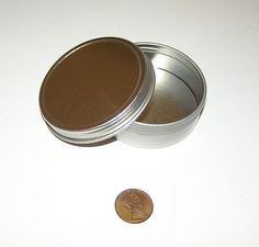 2 oz Round Shallow Survival Tin with Screw Top Lid Can Be Used for Crafts New | eBay