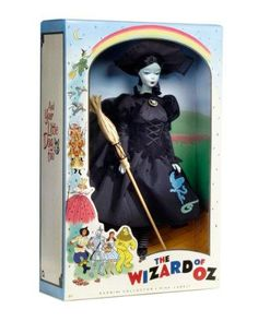 Barbie Collector Wizard of Oz Vintage Wicked Witch Doll by Mattel Barbie Box, Vintage Barbie Dolls, Barbie And Ken, Barbie Stuff, Glinda The Good Witch, Wicked Witch, New Wizard Of Oz, Wizard Of Oz Dolls, Halloween Doll