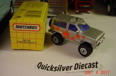 Matchbox Ford Bronco II Grey Pirhana 4x4 1993 39 Box