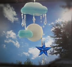 Full Moon, Glass Sculpture, Home Decor, Stained Glass Windchime, Mobile, Window Hanging on Etsy, Sold