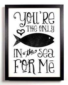Funny Love Quotes Fish in the sea Just In Case, Just For You, Love You, My Love, Cute Funny Love Quotes, Awesome Quotes, Awesome Art, My Sun And Stars, Sea Fish