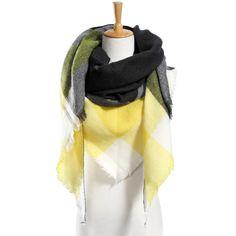 $4.40 Top quality Winter Scarf Plaid Scarf Designer Unisex Acrylic Basic Shawls Women's Scarves hot sale VS051