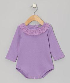 Lavender Ruffle Collar Bodysuit - Infant