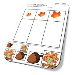 MATERNELLE-THEME DE L'AUTOMNE Math Activities For Toddlers, Pre Reading Activities, Autumn Activities, French Teaching Resources, School Tool, Simple Math, Easy Math, Teaching Aids, Ms Gs