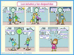 Me encanta escribir en español: Los saludos y las despedidas