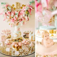 Pin for Later: 58 of the Best Birthday Party Ideas For Girls Sweet and Saucy! A Bow-Filled First Birthday Party