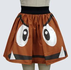 Goomba Inspired Full Skirt by GoChaseRabbits on Etsy, $45.99