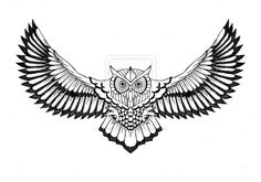Flying owl tattoo-Suitable for chest and upper back area, the flying owl tattoo . - Flying owl tattoo-Suitable for chest and upper back area, the flying owl tattoo looks very striking - Owl Tattoo Drawings, Tattoos 3d, Wolf Tattoos, Trendy Tattoos, Sleeve Tattoos, Tattoos For Guys, Owl Tattoo Design, Best Tattoo Designs, Owl Stencil
