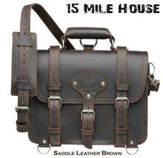 Saddle leather breifcase