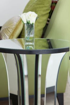 Luxury Mirror Side Table | JHR Interiors
