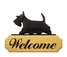 Scottish Terrier Welcome Sign Home Yard Garden Dog Wood Signs Products Gifts | eBay