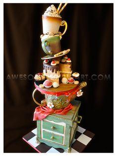 Tea Pot  Standing Cake