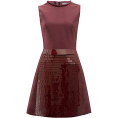 Victoria Victoria Beckham Dark Red Panel Dress