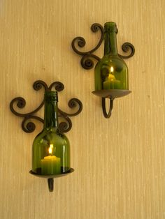 Stunning Iron and Wine Bottle Candle Wall by CabernetLights