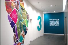 Environmental graphics with meaningful narrative. Fresh and engaging brand story telling.