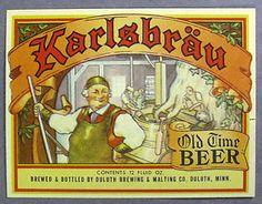 Karlsbrau Old Time Beer Beer Art, Beer Company, Beer Bottle, Brewing, Beer Stein, Beer Labels, Cl, Journaling, Tattoo