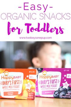 #ad What is every toddler mom or dad looking for? An easy organic snack for their littles! Happy Baby yogurt is non- GMO,  has no added sugar, and is made with probiotics! Not to mention it's made with whole milk, making it even more delicious! Thanks for the healthy snack, Happy Baby! #thisishappy #happybaby #happyfamily #toddlersnacks #easysnacks #babysnacks #babyfood #parenting #motherhood #healthyeating #probiotics #organic #organicsnacks #momhacks #kidssnacks