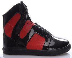 Mens Supra Pilot Skate Shoes Red - Black supra sale  $144.99