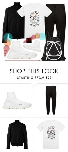 """🔝🔝🔝🔝"" by sanela-enter ❤ liked on Polyvore featuring Balenciaga, Y-3, McQ by Alexander McQueen, men's fashion and menswear"