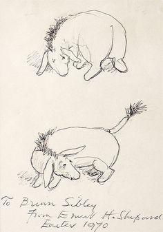 """""""Oh, Eeyore!"""" by Brian Sibley - original sketch by Ernest H. Shepard"""