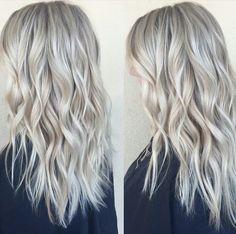 Icy blonde color and cut @feliciatrone