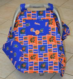 Florida Gator Baby Car Seat Cover by Debsflorals on Etsy, $42.00