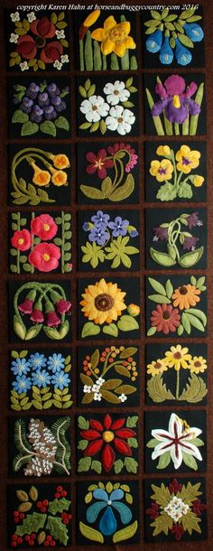 "This listing/page has been reactivated on December 24th as the result of some added requests to join the 2018 wool applique BOM project, ""The Four Seasons of Flowers,"" after the origina…"