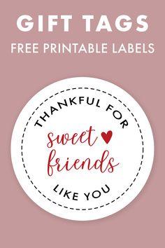 Free Printable Thankful Gift Tags