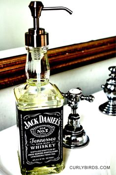 curlybirds.com - Jack Daniels Soap Dispenser