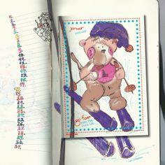 Das kleine Äffchen, Geburtstagskalender. Kalender ohne Jahreszahl und Tagesangabe, wiederverwendbar, Format 20x20, Januar