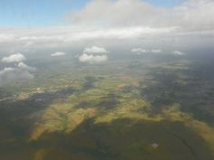 Santo Domingo, Dominican Republic~ This is the approach to the Airport of the Americas in Santo Domingo. The landscape is mostly farmland, coffee, sugarcane, rice, etc.
