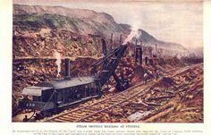 1913 Steam shovels meeting at Culebra Cut (Panama Canal)