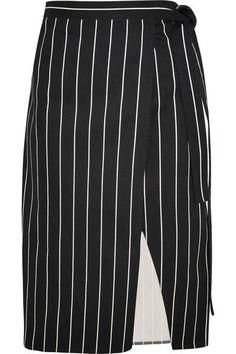 Balenciaga - Striped Cotton Wrap Skirt - Black - FR34