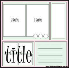 Scrapbook layout - Simple & Beautiful.
