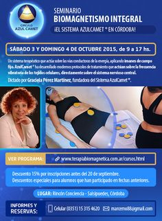 PORTAL TERAPIAS CORDOBA: SEMINARIO BIOMAGNETISMO INTEGRAL, CORDOBA 3 Y4 OCT...