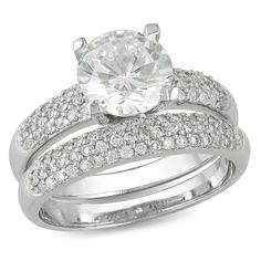 Looking at 'Amour Fashion  Sterling Silver Engagement and Wedding Round Cubic Zirconia Set' on SHOP.CA