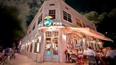 We love this place!! Great chicken & waffles! Big Pink cafe #southbeach