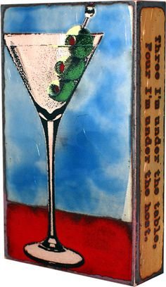 """#151: Shaken """"I like to have a martini, two at the very most. Three I'm under the table, four I'm under the host."""" -Dorothy Parker ($110)"""
