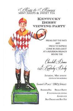 Lawn Jockey #Derby Invitation