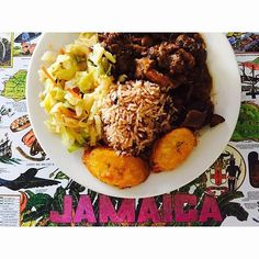 What's for Sunday dinner? Recipes at http://jamaicans.com/recipes/  by @ling.phan #sunday #dinner #jamaicanfood #foodporn #riceandpeas #oxtail #cabbage #Recipe