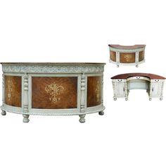 Demilume Parchment Desk 66.5L X 33D X 32H
