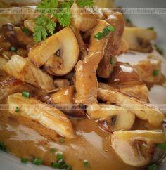 Gulasz z kurczaka z pieczarkami
