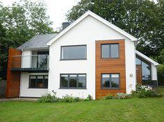 Exterior paint colora for house grey window 15 Super ideas Cedar Cladding, House Cladding, Exterior Cladding, Wooden Cladding, Cladding Panels, Home Exterior Makeover, Exterior Remodel, Modern Exterior, Exterior Design