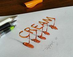 3D Lettering with Parallelpen-Brushpen&Pencil - Part 4