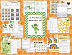 St. Patrick's Day Math Center Fun