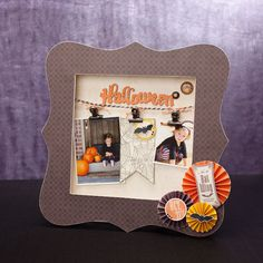 Dress up the My Creations bracket frame with foundry binder clips and Baker's Twine for a Halloween wall hanging. #CTMH
