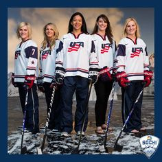 U.S. Hockey: women's Olympics team- so sad they lost to Canada in the gold medal game.....